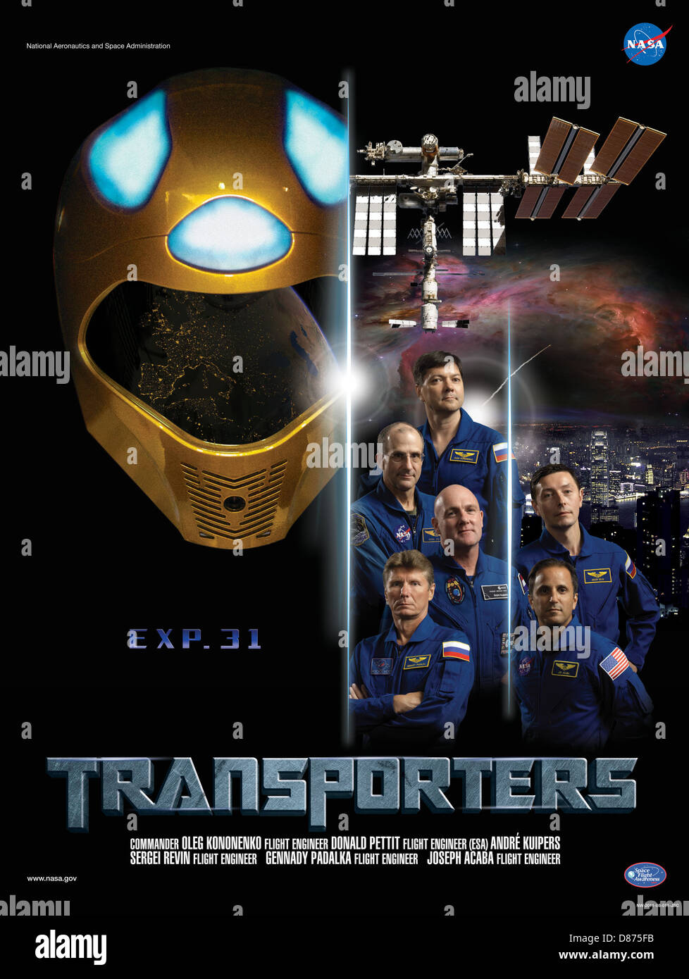 Expedition 31 TRANSPORTERS crew poster.jpg - Stock Image