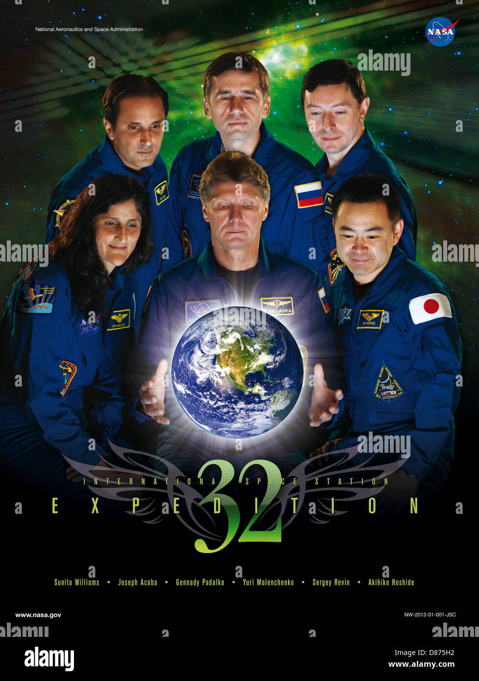 Expedition 32 crew poster.jpg - Stock Image