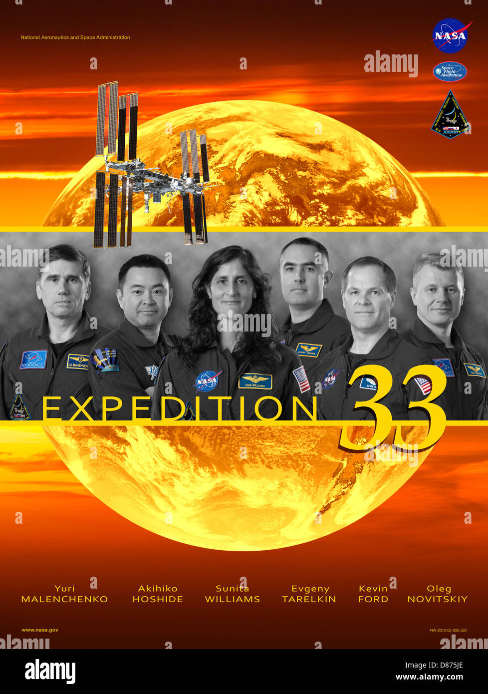 Expedition 33 crew poster.jpg - Stock Image