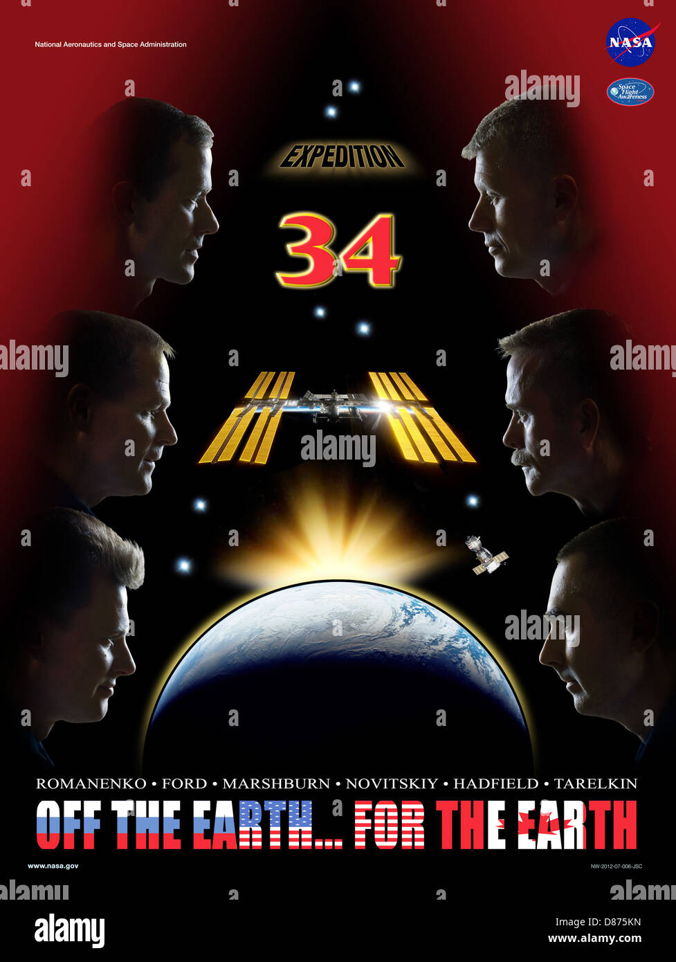 Expedition 34 crew poster.jpg - Stock Image