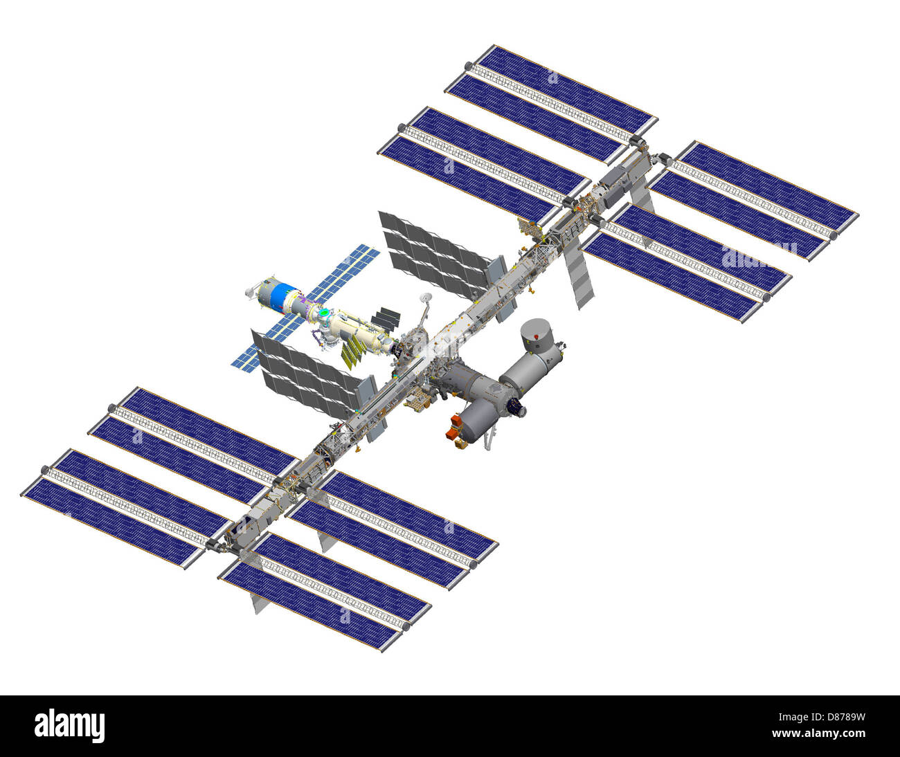 ISS after STS-119 (computer rendering of August 2006).jpg - Stock Image