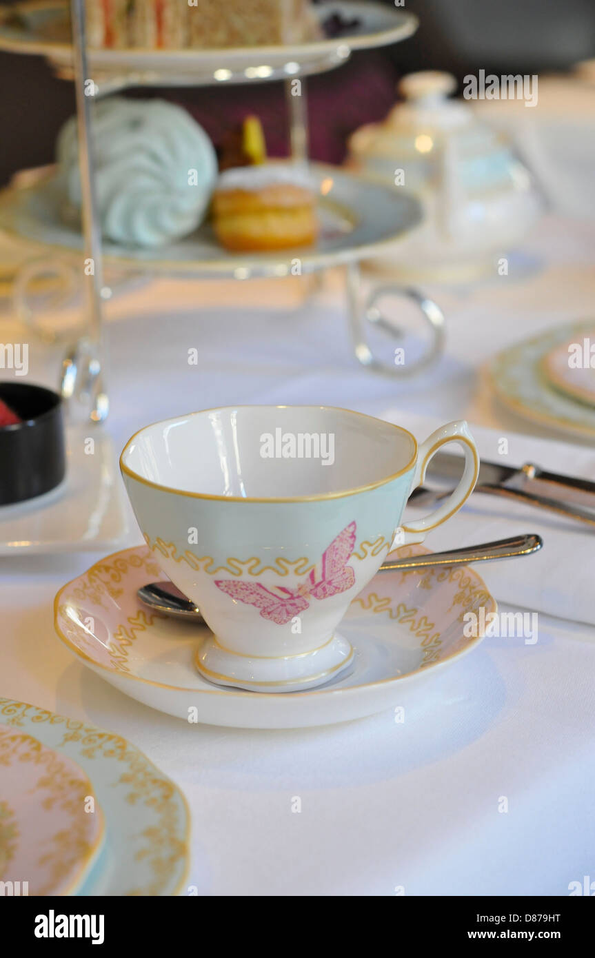 Afternoon tea at The Mandeville Hotel, London, England - Stock Image