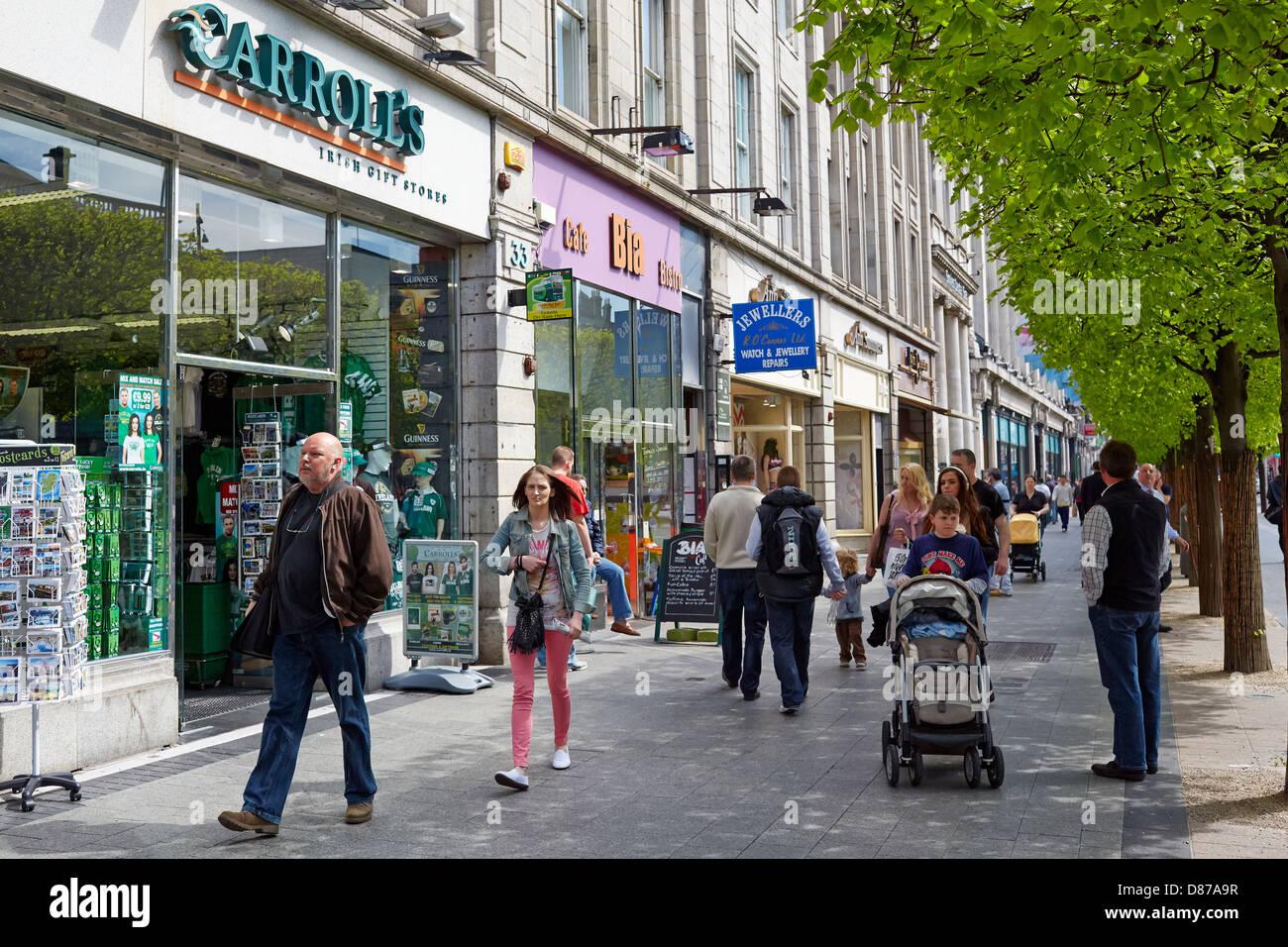 Carroll's souvenir shop in O'Connell Street, Dublin, Ireland - Stock Image
