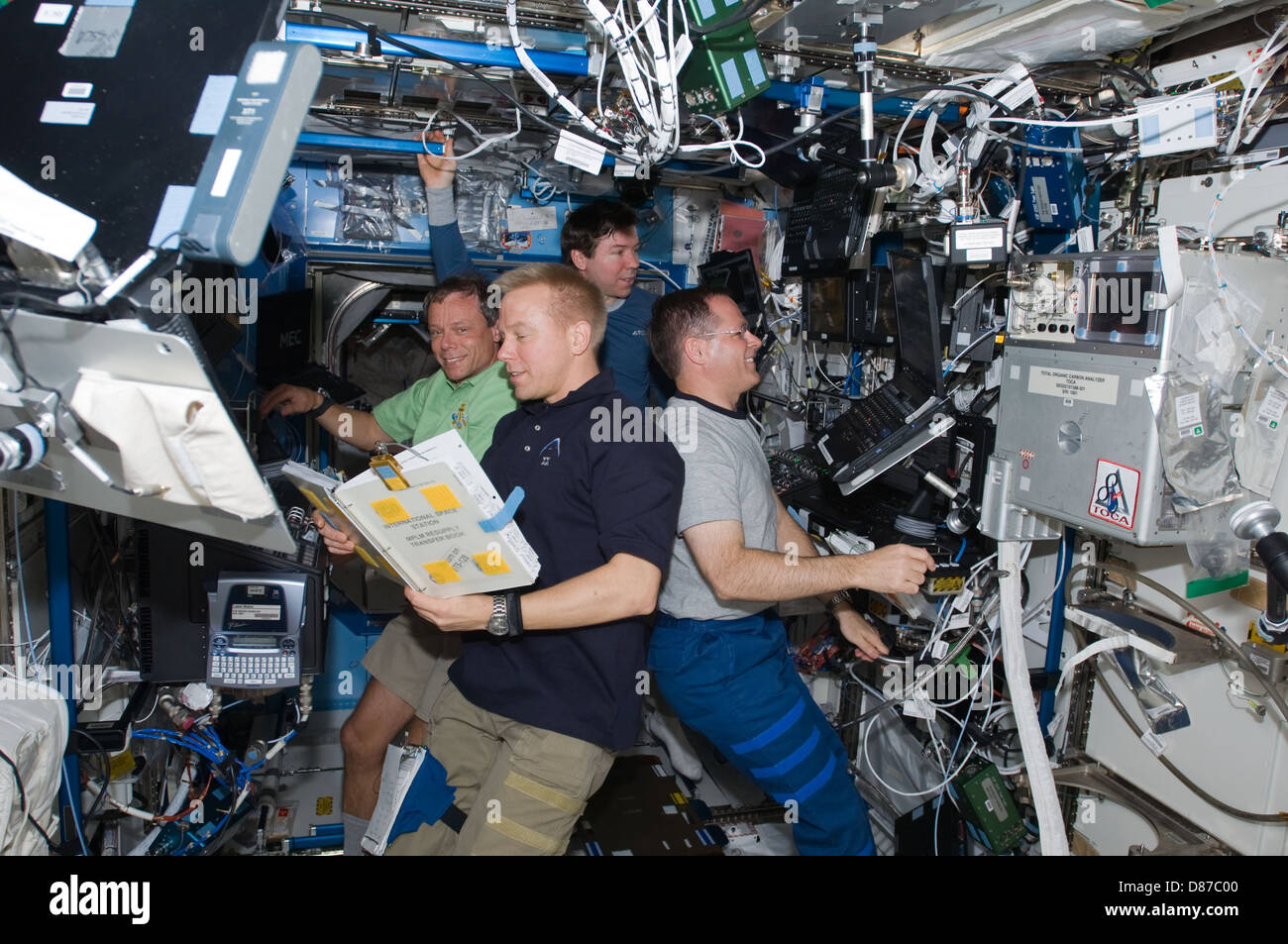 STS-128 ISS-20 Destiny.jpg - Stock Image
