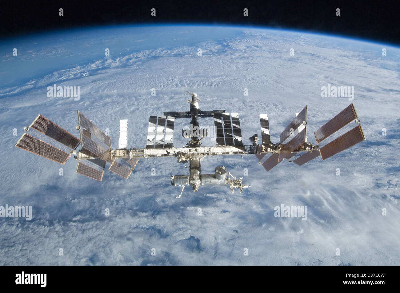 STS-128 ISS Separation 01.jpg - Stock Image