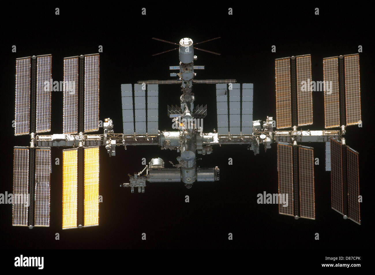 STS-134 International Space Station after undocking 1.jpg - Stock Image