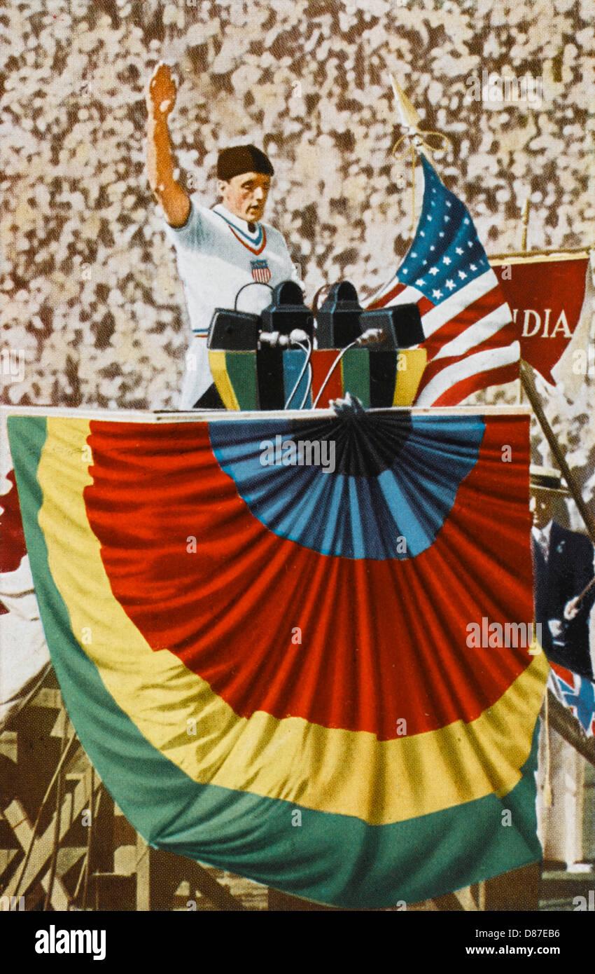 Olympics 1932 Oath - Stock Image