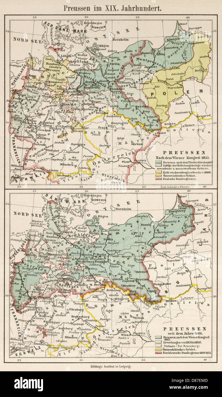 Map Of Germany 1815.Map Germany 1815 1866 Stock Photos Map Germany 1815 1866 Stock