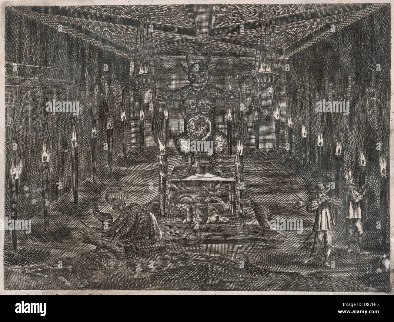 Aztec Sacrifice - Stock Image