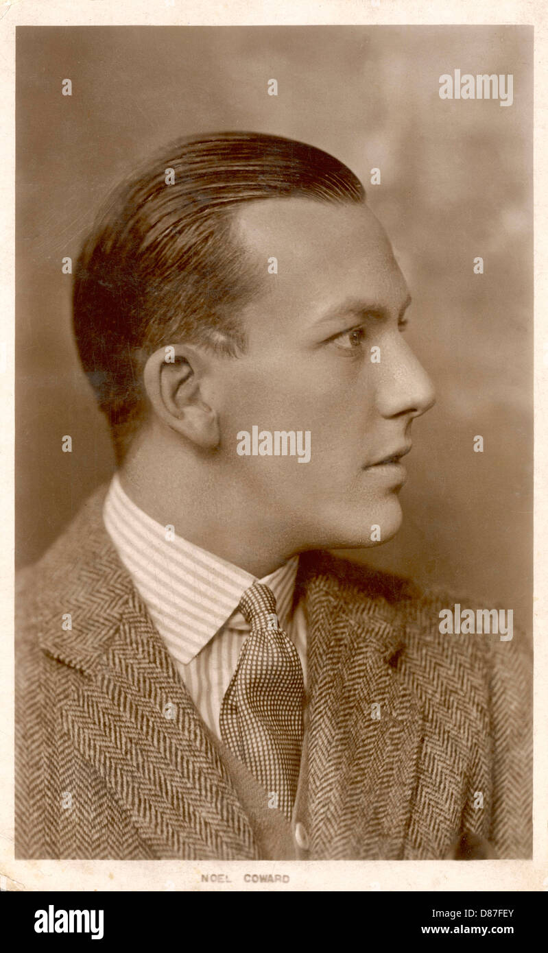 Noel Coward Postcard - Stock Image