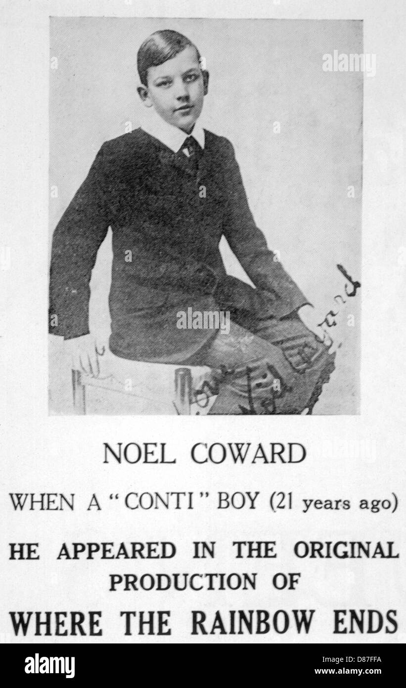 Noel Coward As A Boy - Stock Image