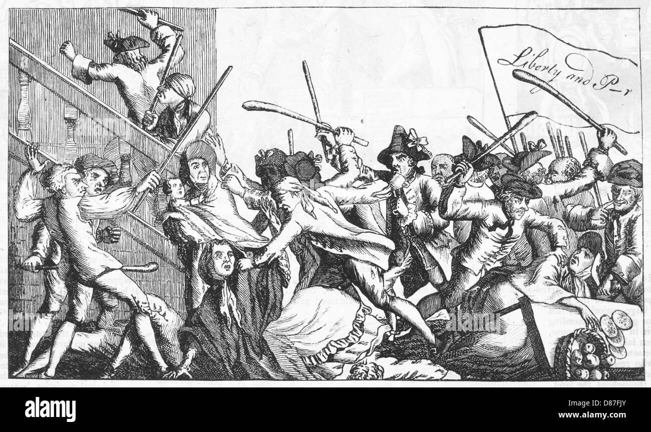Events Britain 1768 - Stock Image