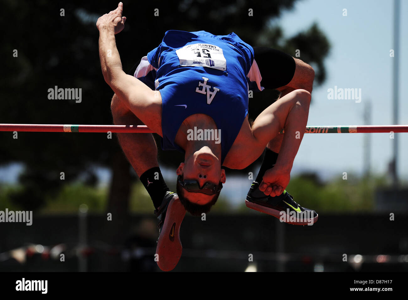 Mens High jump event - Stock Image