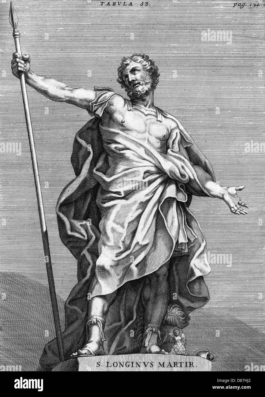 St Longinus Martyr 1696 - Stock Image
