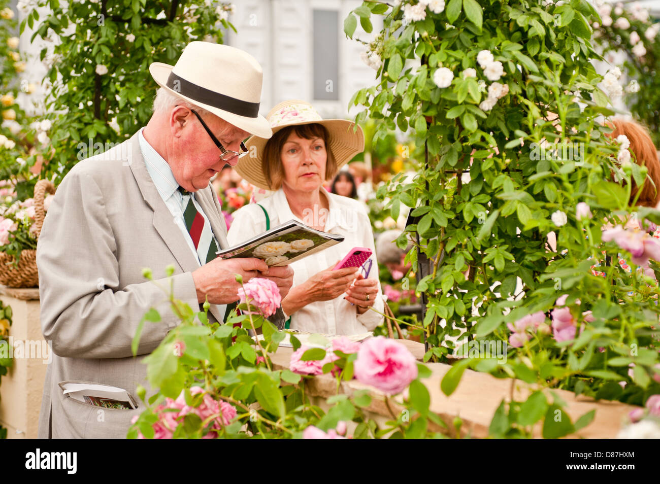 LONDON, UK - 22 May 2012: visitors at the RHS Chelsea Flower Show 2012. Stock Photo