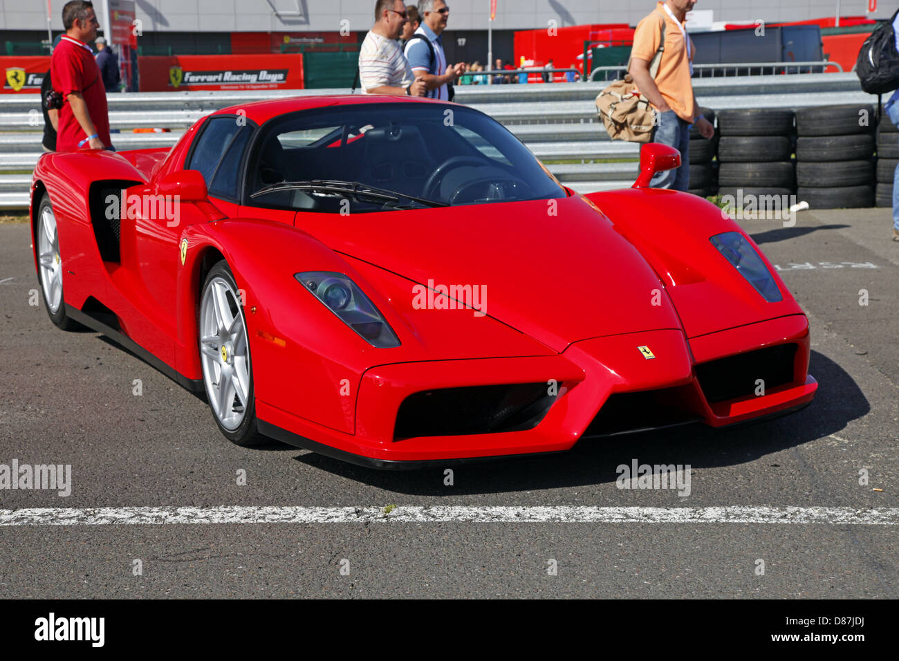 RED FERRARI ENZO CAR SILVERSTONE ENGLAND 17 September 2012 - Stock Image