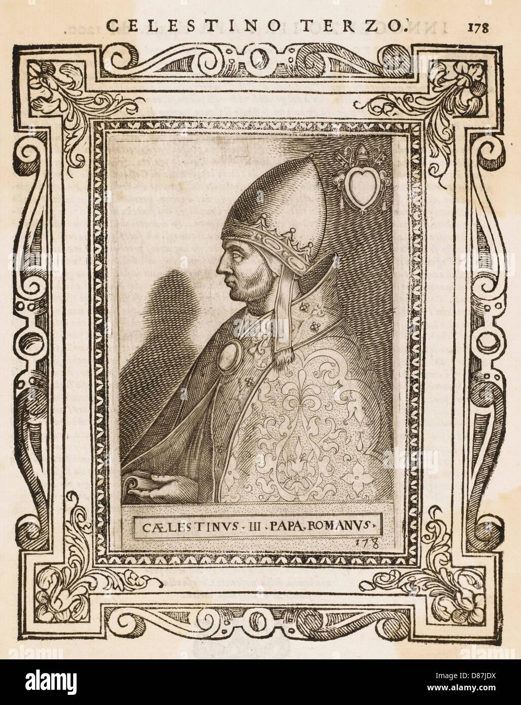 Pope Caelestinus Iii - Stock Image