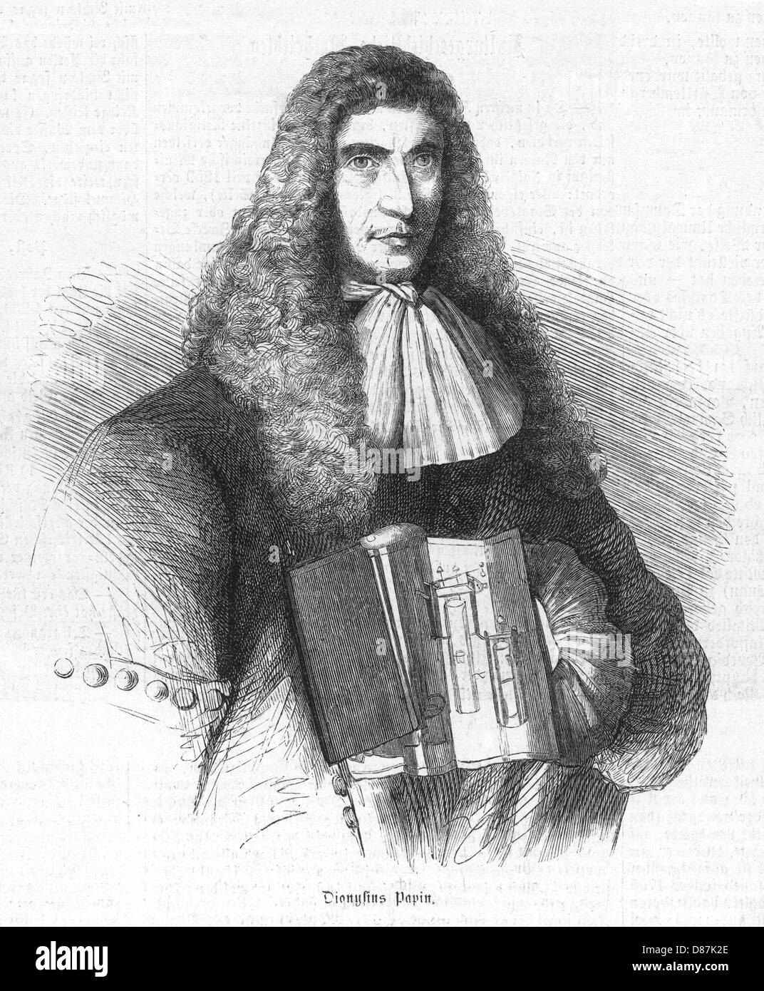Denis Papin Liz 1859 - Stock Image