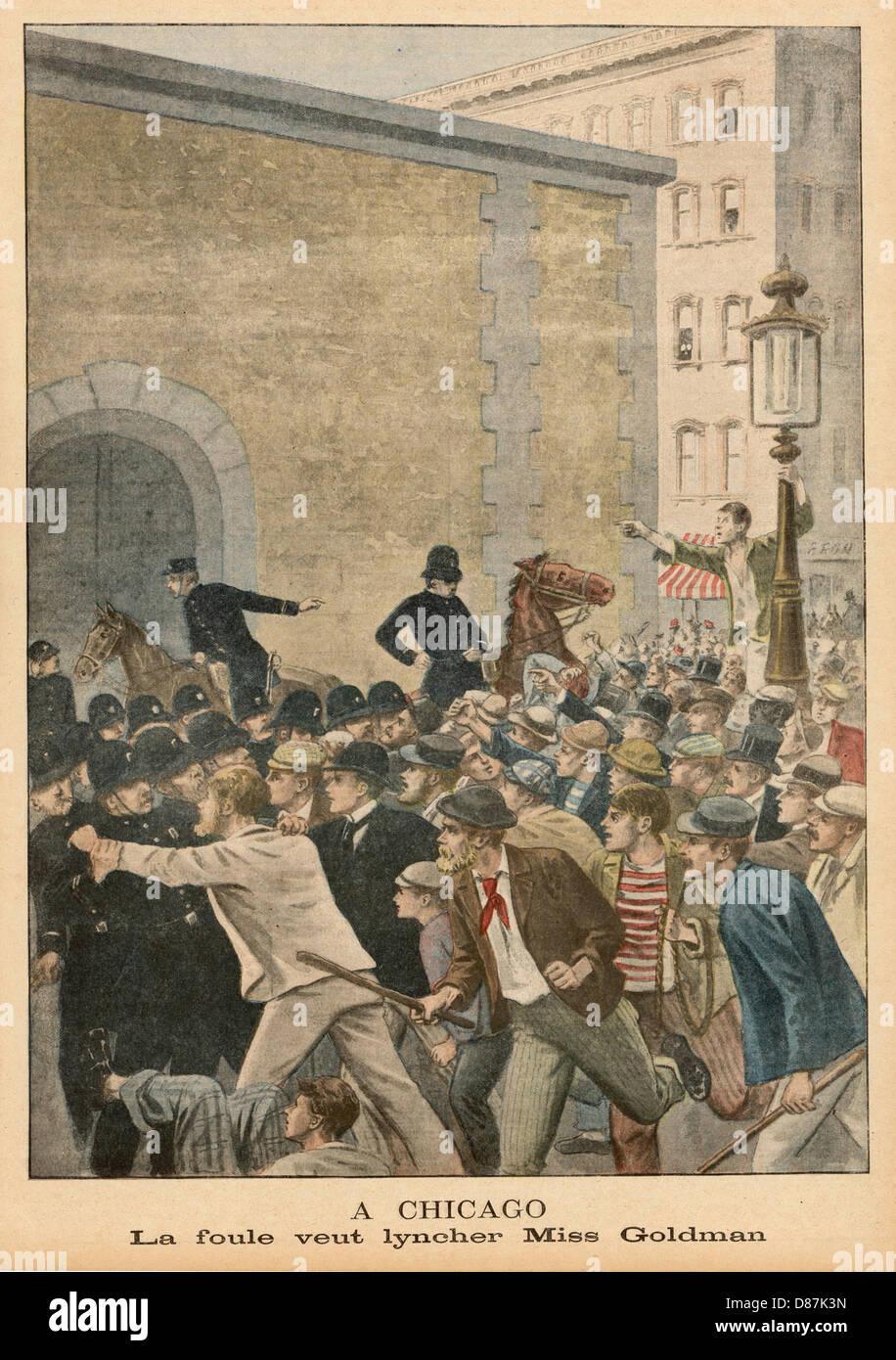 Emma Goldman Lynching - Stock Image