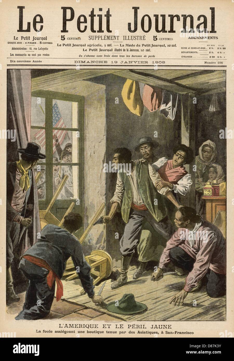 Race Riots San Francisco - Stock Image