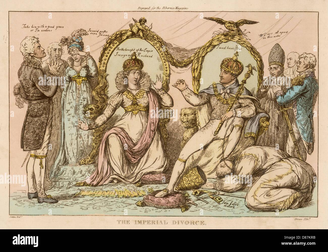 Nap Divorces Josephine - Stock Image