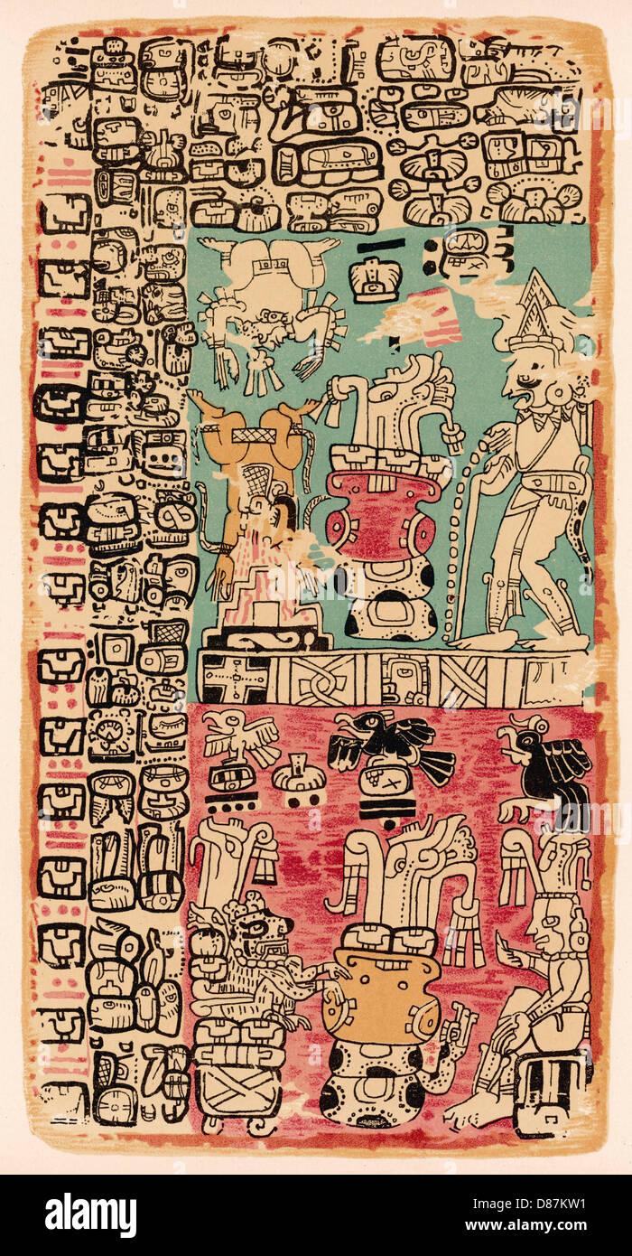 Codex Troano 3 - Stock Image