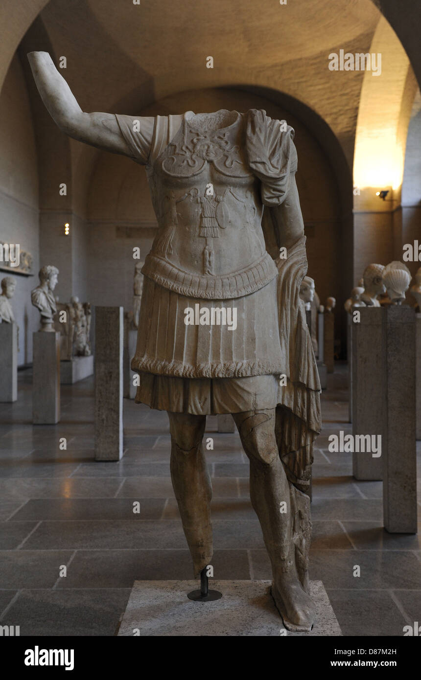 Roman art. Statue of a military commander. 1st century BC. Glyptothek. Munich. Germany. - Stock Image