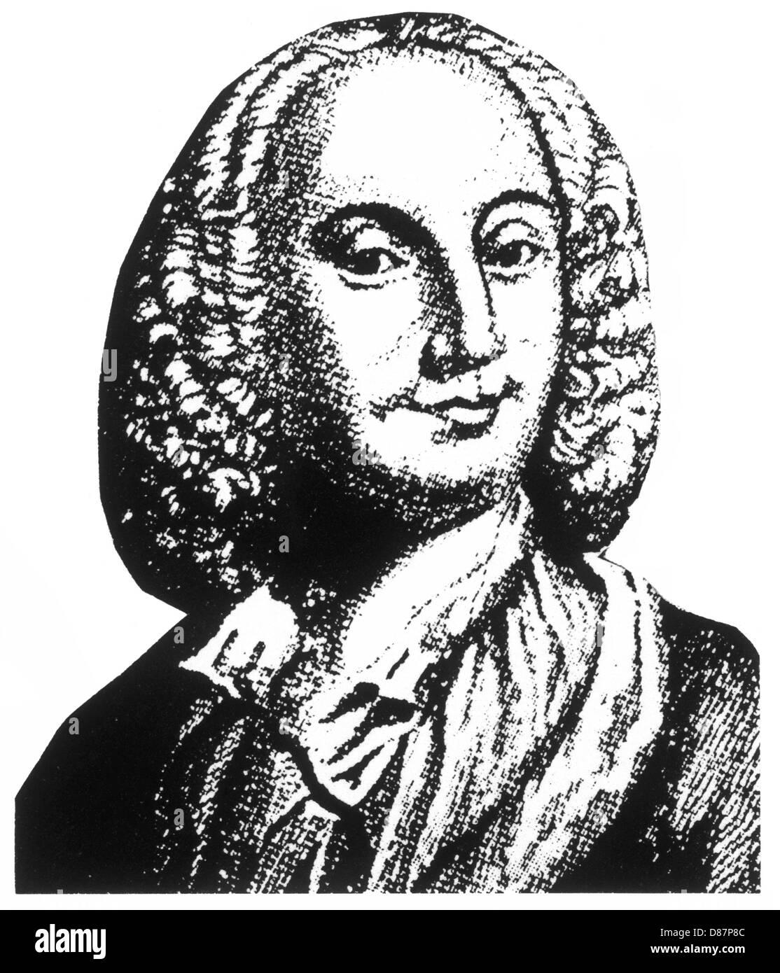 Antonio Vivaldi Anon Eng - Stock Image