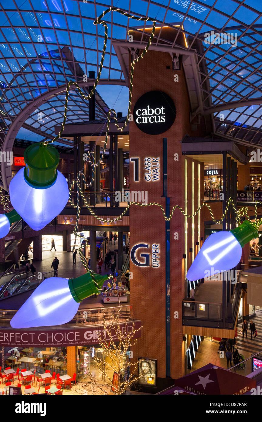 Cabot Circus shopping mall, Bristol, UK - Stock Image