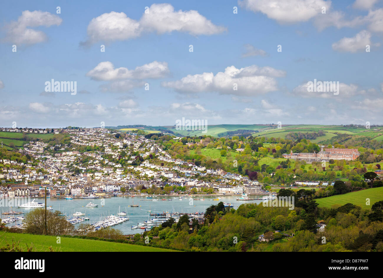 Dartmouth and the Royal Naval College, Devon, England, UK Stock Photo