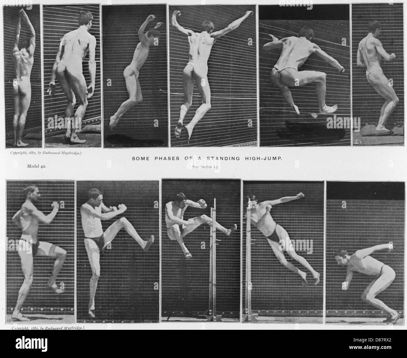 Muybridge High Jump - Stock Image