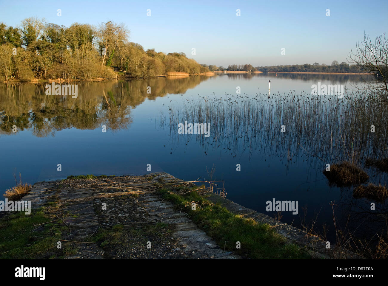 Crom Estate Slipway, Upper Lough Erne, County Fermanagh, Northern Ireland - Stock Image
