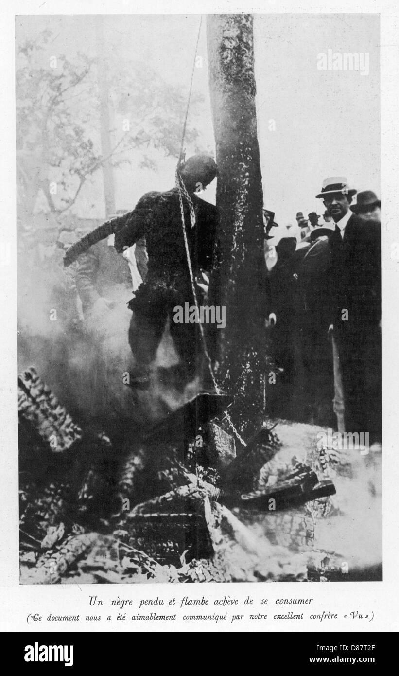 Lynching A Negro - Stock Image