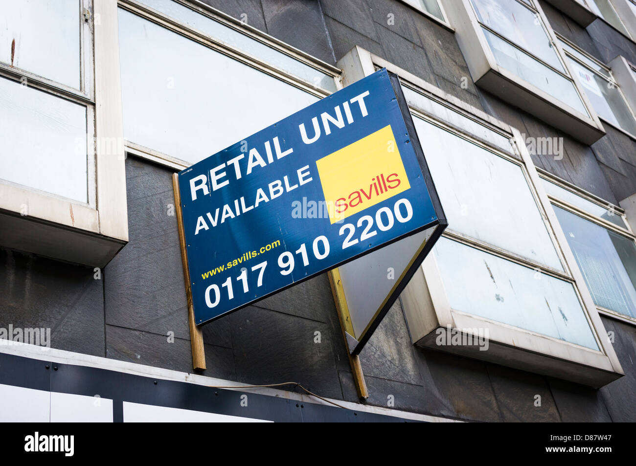 Commercial retail unit to let sign on a town centre building, England, UK - Stock Image