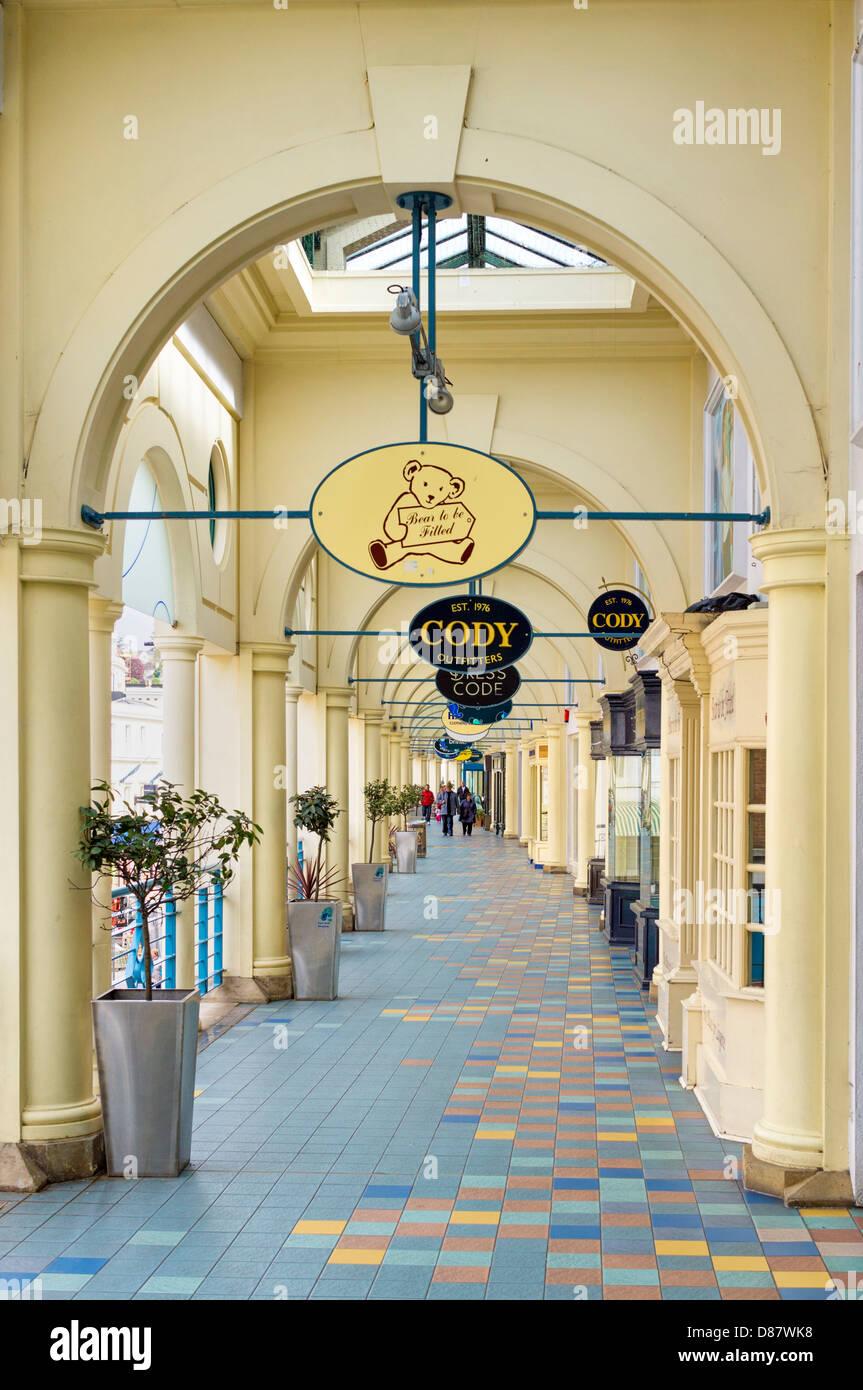 Fleet Walk shopping centre, Torquay, Devon, England, UK - Stock Image