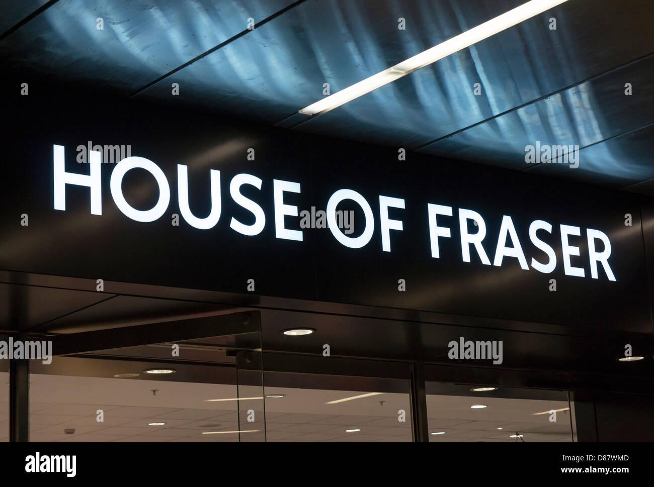 House of Fraser department store logo, UK - Stock Image