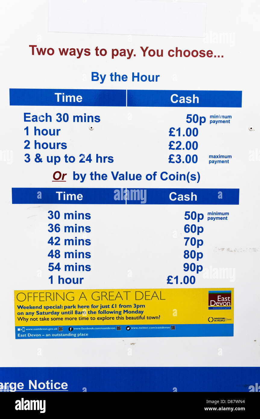 Car park charges, UK - Stock Image