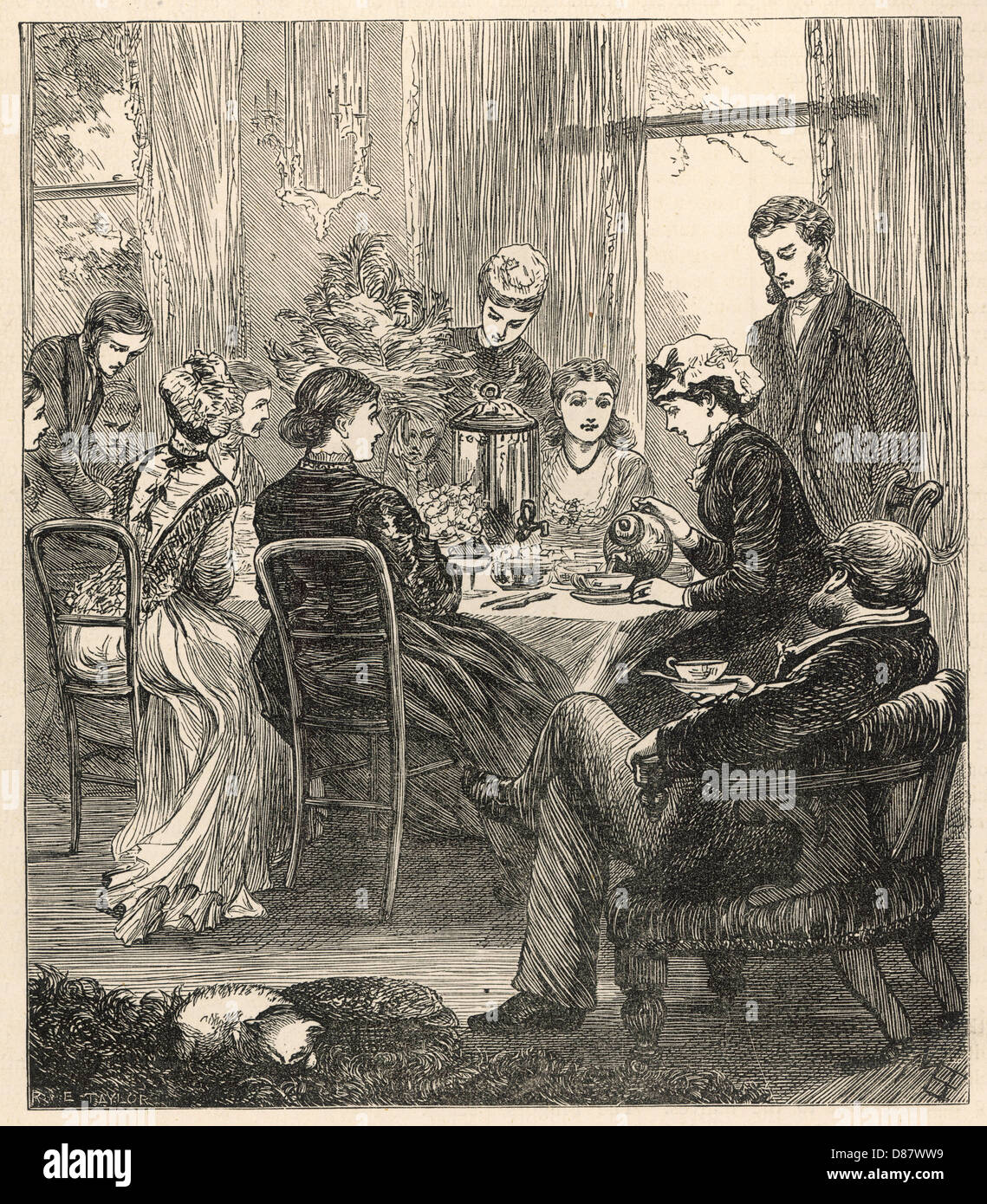 High Tea 1878 - Stock Image