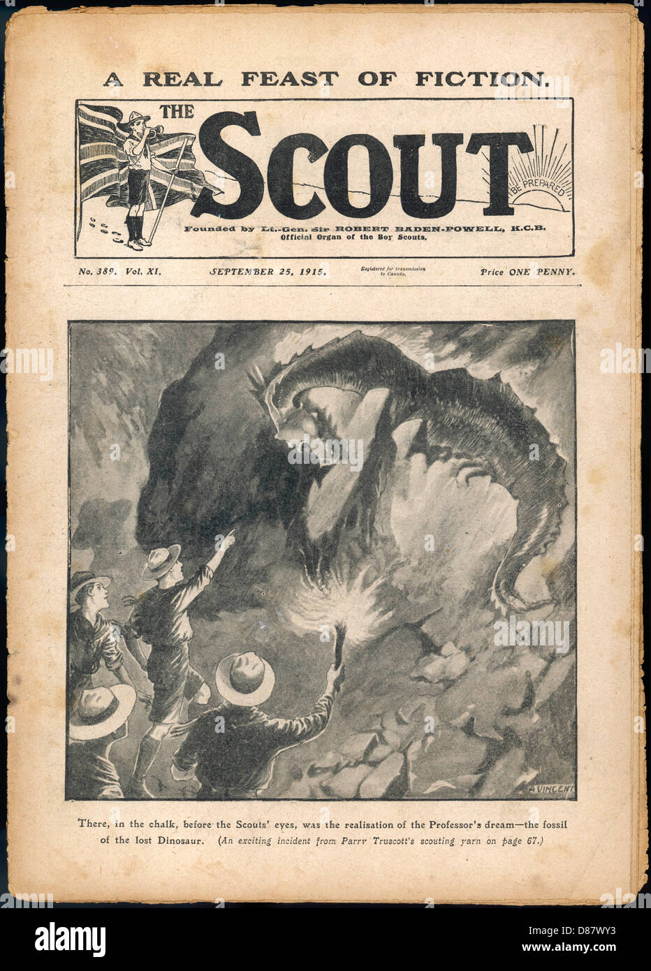 Scouts Dinosaur Fossil - Stock Image