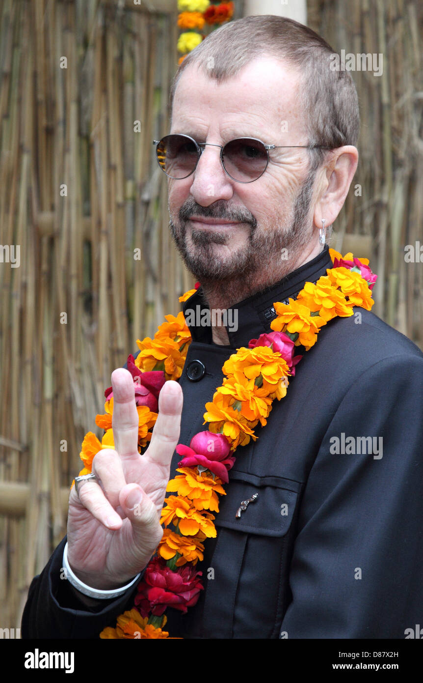 Chelsea, London, UK. May 20th 2013. Ringo Starr at the RHS Chelsea Flower Show Press and VIP Preview Day, Royal - Stock Image