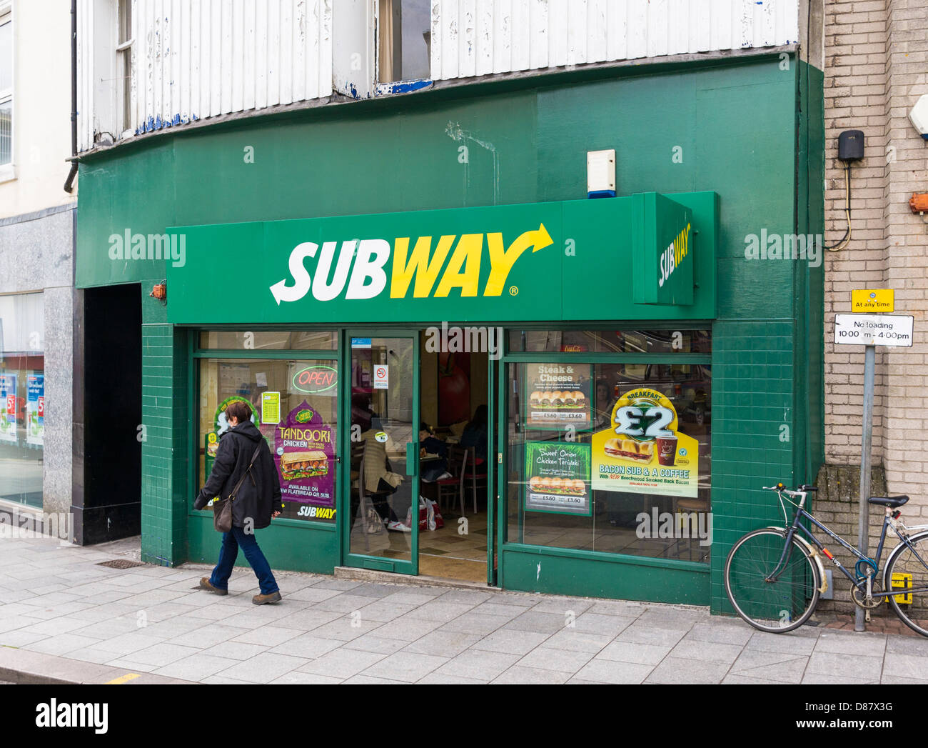 Subway sandwich shop, UK - Stock Image