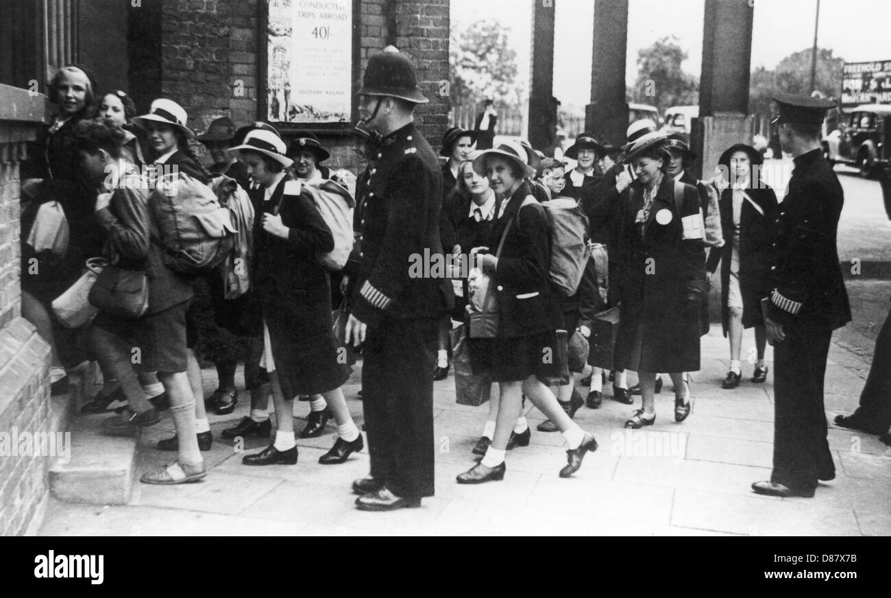 Evacuees At Catford - Stock Image