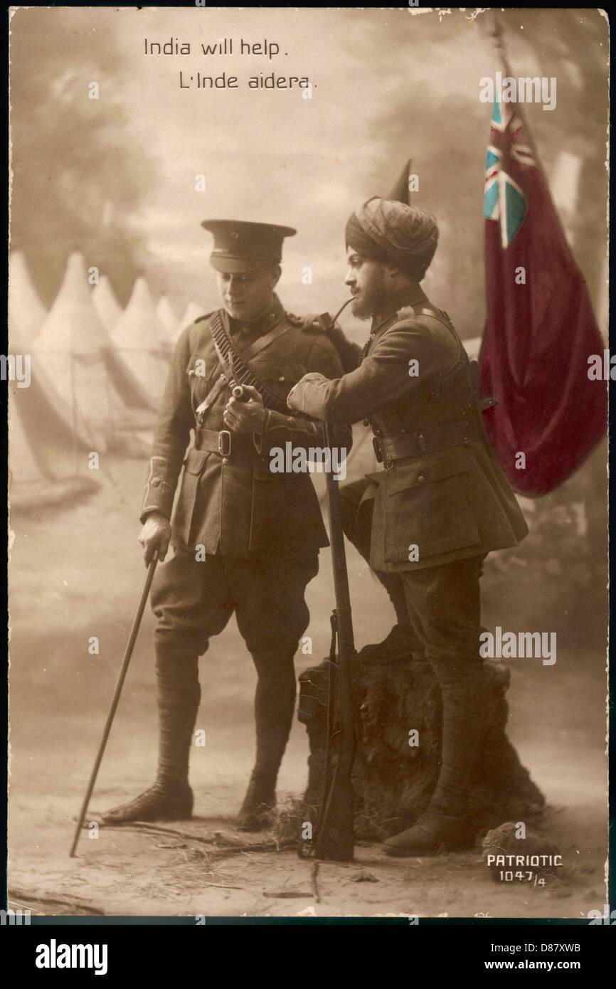 British Indian Army Ww1 - Stock Image