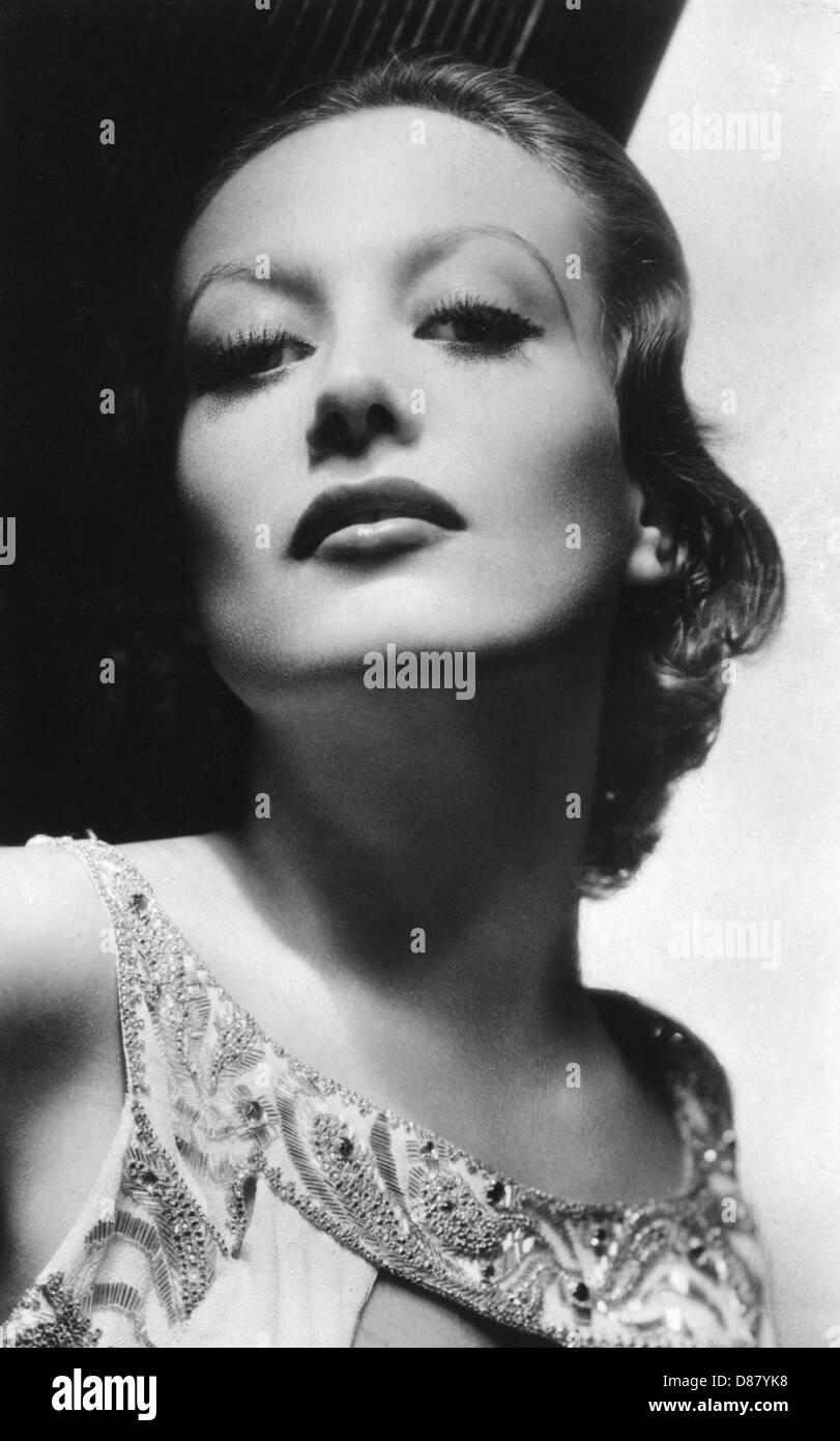 Joan Crawford Postcard - Stock Image