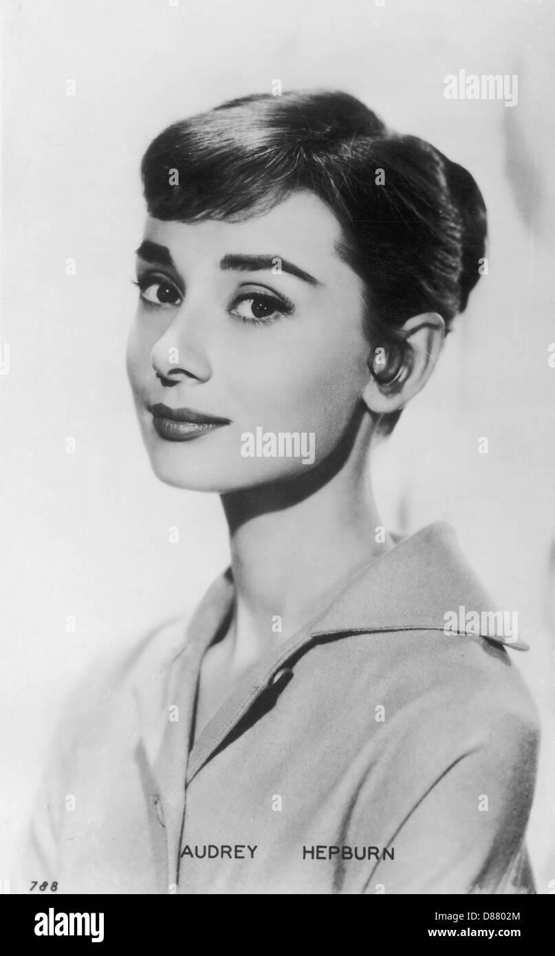 Audrey Hepburn Postcard - Stock Image