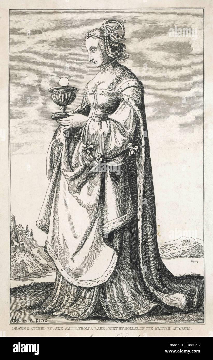 Anne Boleyn Holbein - Stock Image