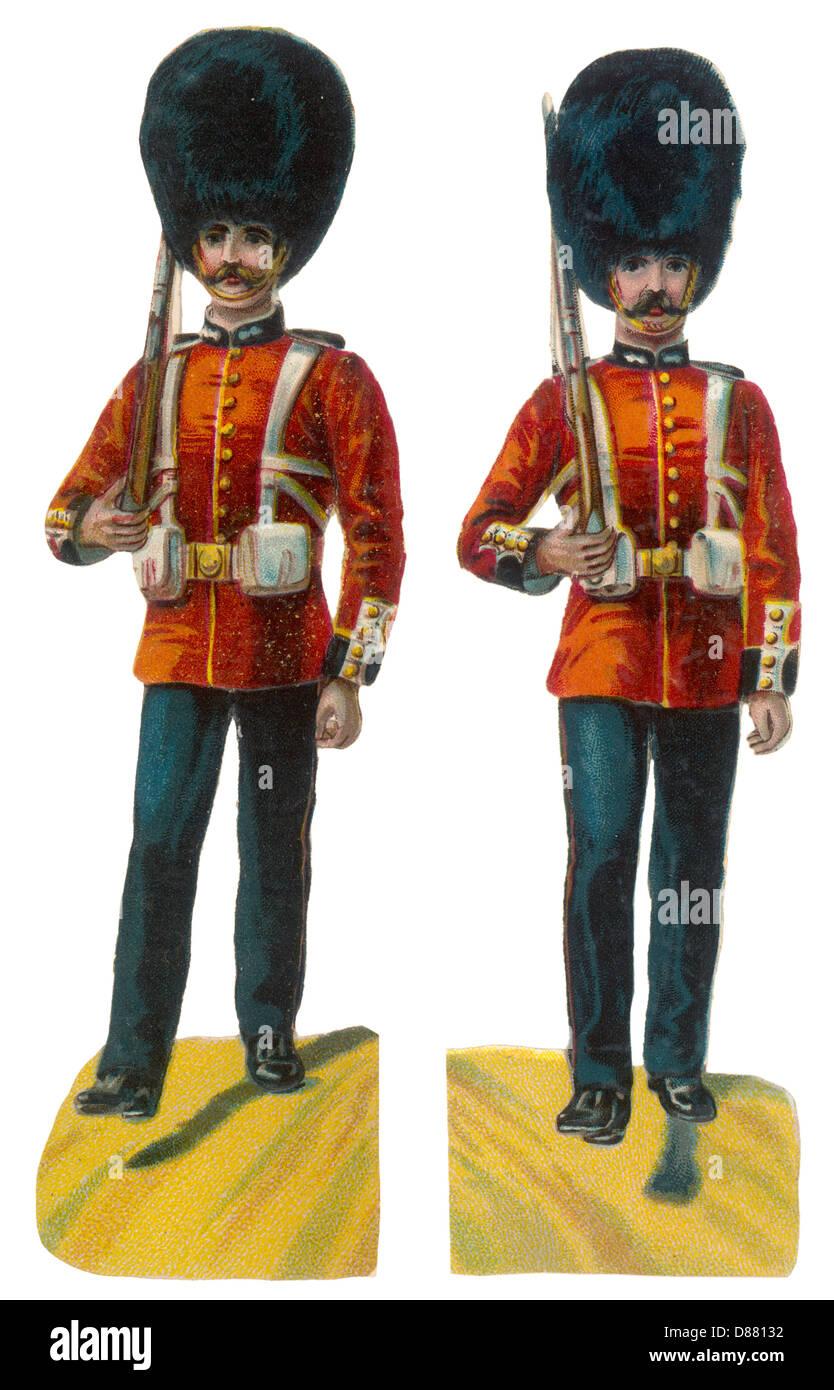 British Guardsmen Scrap - Stock Image