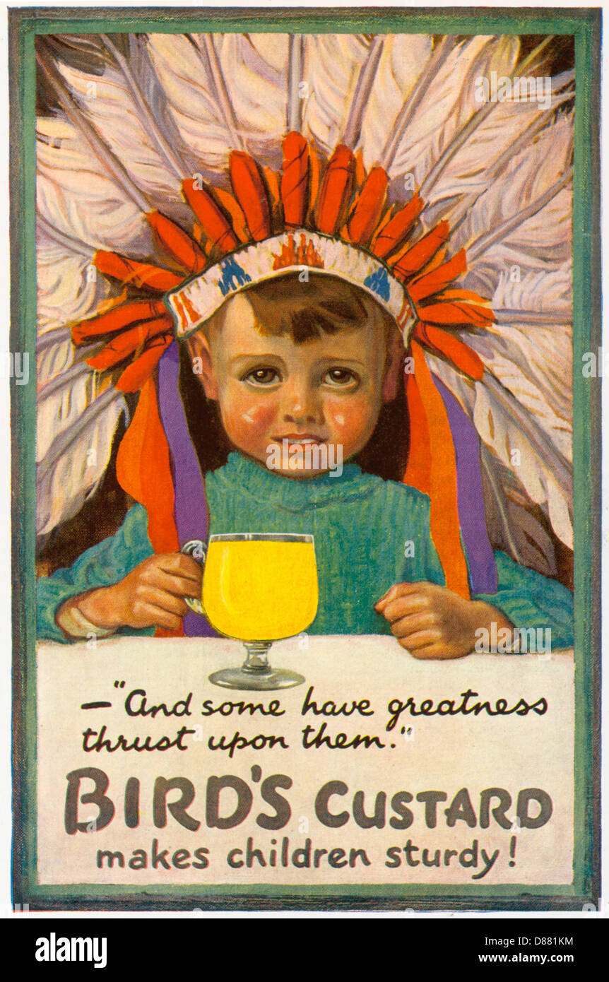 Advert Custard Boy Chief - Stock Image