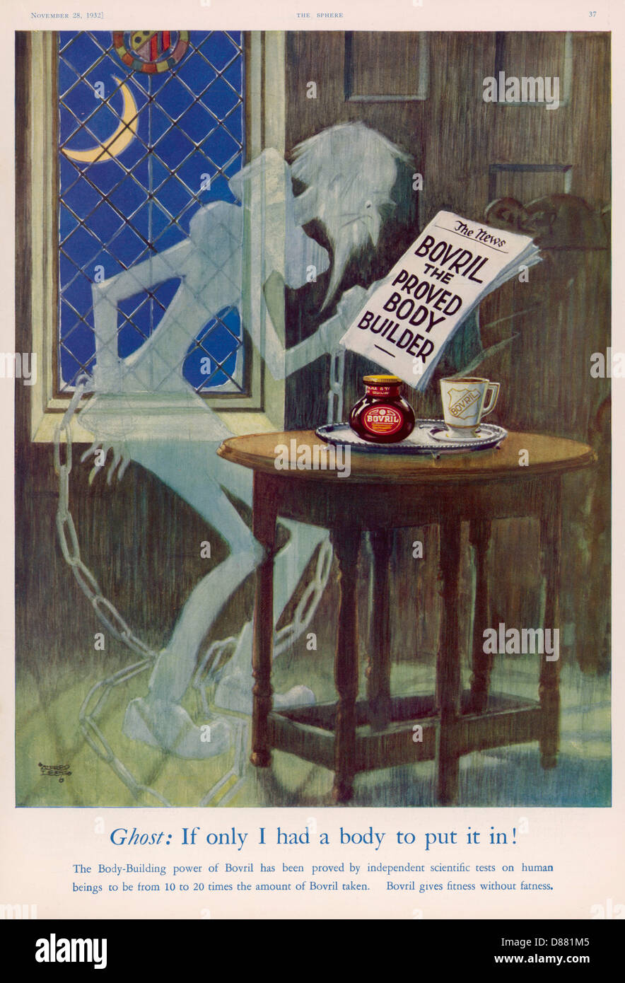 Advert Bovril Ghost - Stock Image