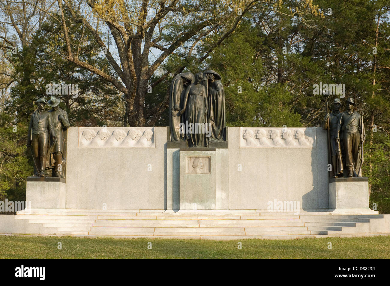 Confederate Memorial, Shiloh National Military Park, Tennessee. Digital photograph - Stock Image